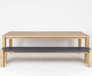 Peace dining table Peace bench seat brad nicholls design melbourne furniture